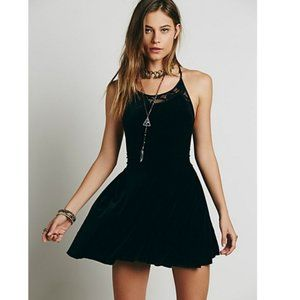 Free People Nightshade Velvet Lace Mini Dress